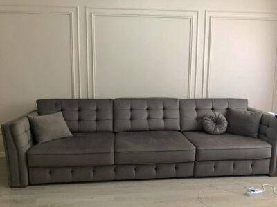 "Прямой диван ""Лучано 3Ф-1Я"" Обивка: Amour 5502"