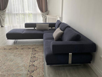 "Угловой диван ""Поло 2-3"" Обивка: Capulet 4010"